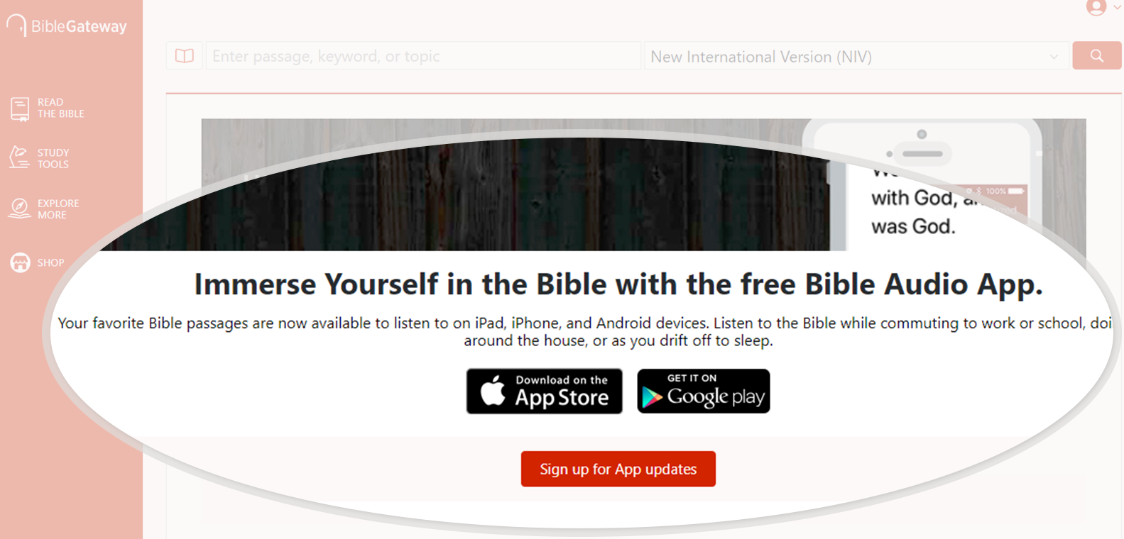 BibleGateway com: A searchable online Bible in over 150
